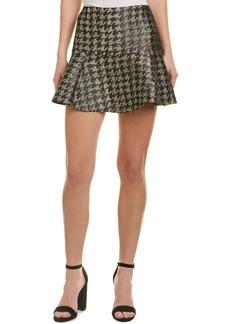 Parker Metallic Wool-Blend Mini Skirt