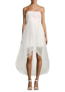 Parker Midtown Strapless Hi-Lo Gown