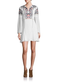 Parker Milly Silk Embroidered Dress