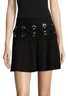 Parker Milos Leather Mini Skirt