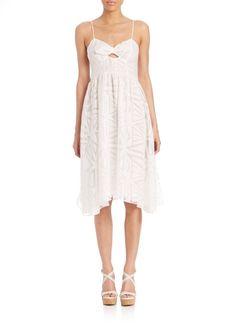 Parker Miranda Printed Cutout Dress