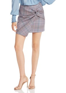 Parker Montaigne Plaid Twist Mini Skirt