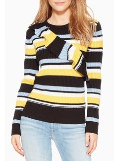 Parker Montego Stripe Ruffle Sweater