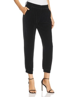 Parker Morgan Velvet Tapered Crop Pants