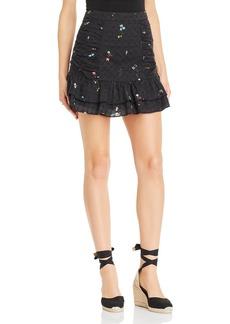 Parker Nadia Floral-Print Eyelet Skirt
