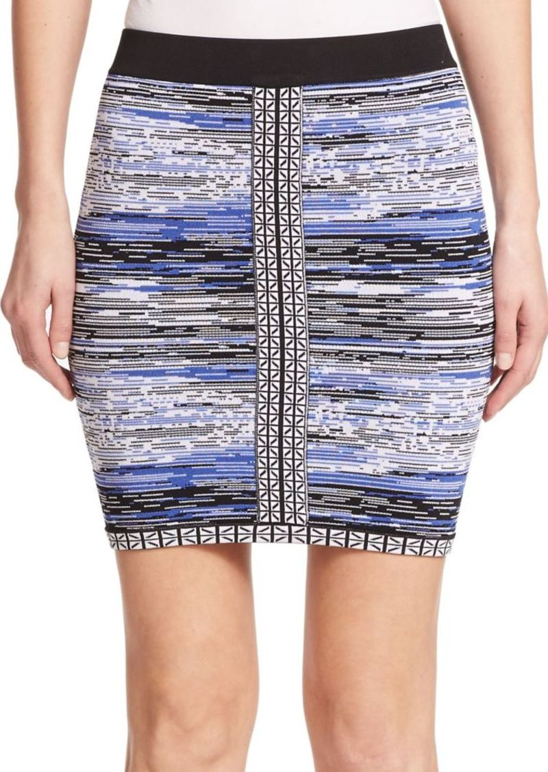 Parker Napolean Printed Body-Con Mini Skirt