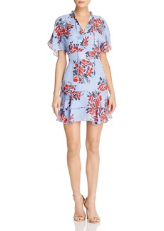 Parker Natalie Printed Silk Dress