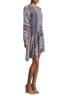 Parker Noella Printed Silk Blouson Dress
