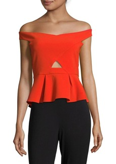 Parker Off the Shoulder Peplum Top