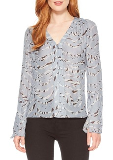 Parker Oriana Button Front Silk Blend Blouse