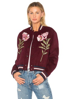 Parker Pacifico Bomber Jacket in Burgundy. - size M (also in S,XS,L)