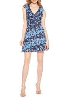 Parker Paola Asymmetrical Ruffle Silk Dress
