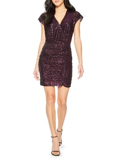 Parker Perugia Sequin V-Neck Minidress