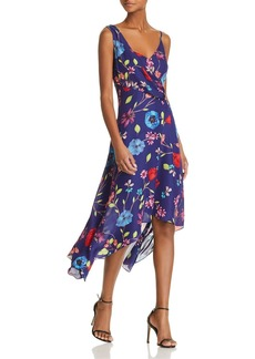 Parker Pippy Asymmetric Floral-Print Dress