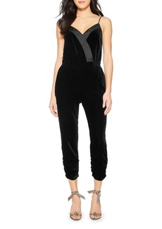 Parker Preston Sleeveless Velvet Jumpsuit
