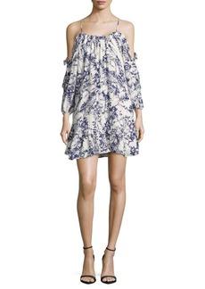 Parker Printed Cold-Shoulder Dress