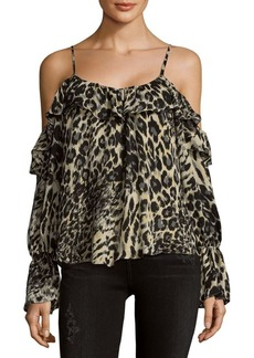Parker Printed Cold Shoulder Top