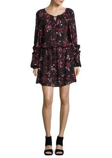 Parker Printed Drop-Waist Dress