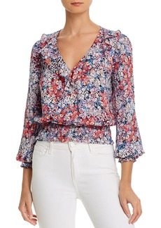 Parker Quincy Silk Smocked Waist Blouse