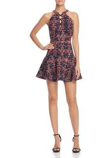 Parker Rayan Lace-Up Mini Dress