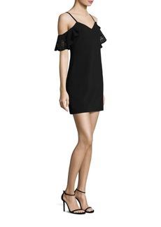 Resse Laser-Cut Cold-Shoulder Dress