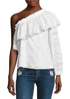 Parker Rihanna One-Shoulder Blouse
