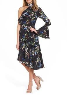 Parker Rine One-Shoulder Silk Dress
