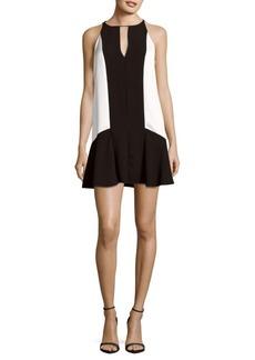Parker Ronan Two-Tone Sleeveless Dress
