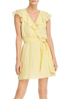 Parker Roscoe Faux-Wrap Mini Dress