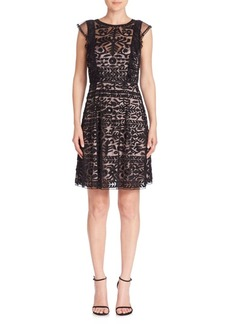Parker Rosewell Embroidered Ruffle Dress