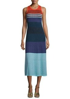 Parker Rosie Sleeveless Colorblock Midi Dress