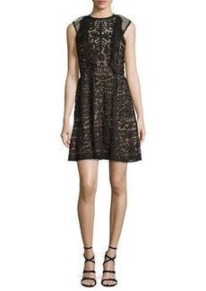 Parker Roswell Geometric Lace Sleeveless Dress