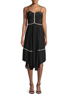 Parker Ruched Eyelet Sheath Dress