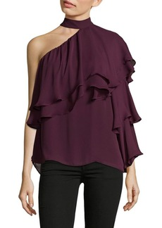 Parker Ruffled One Shoulder Blouse