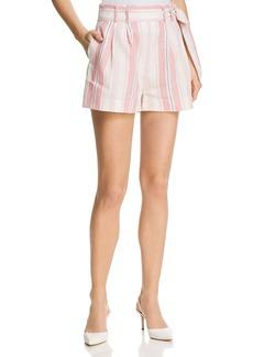 Parker Sage Striped Shorts