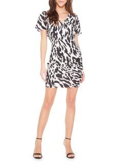 Parker Santorini Tiger Print Minidress