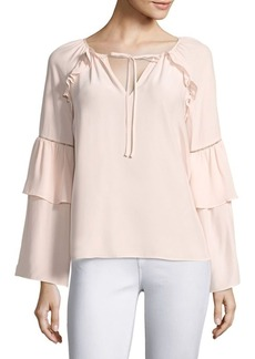 Parker Saturday Bell Sleeve Silk Blouse