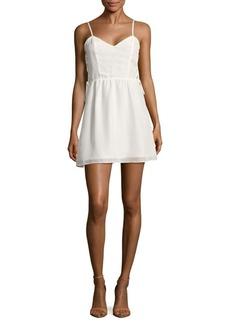 Parker Side Lace-Up Solid Dress