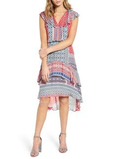 Parker Sistine Mixed Print Dress