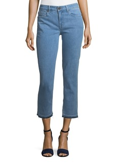 Parker Cropped Straight-Leg Jeans with Released Hem