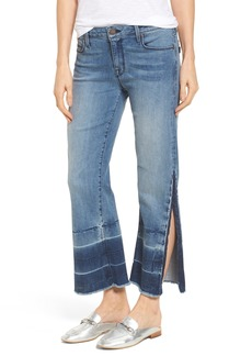PARKER SMITH Off-Beat Crop Flare Jeans (Ocean Current)