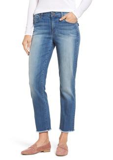 PARKER SMITH Raw Edge Ankle Straight Jeans (Sea Coast)