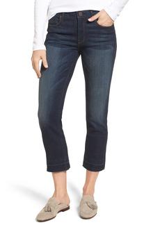 PARKER SMITH Release Hem Crop Jeans (Ink Shadow)