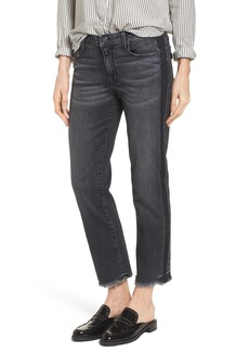 PARKER SMITH Straight Leg Crop Jeans (Black Crush)