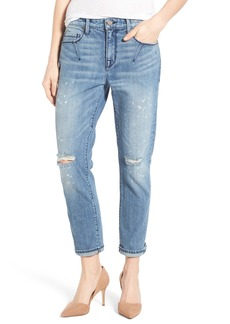 PARKER SMITH Stretch Roll Cuff Girlfriend Jeans