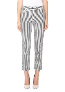 Parker Smith Striped Straight-Leg Ankle Pants