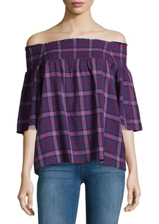 Parker Smocked Off-The-Shoulder Top