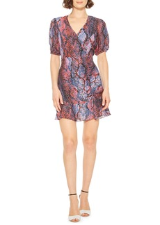 Parker Soliana Snake Print Minidress