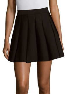 Parker Solid A-Line Pleated Skirt
