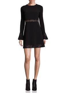 Parker Sonoma Laser-Cut Fit & Flare Dress